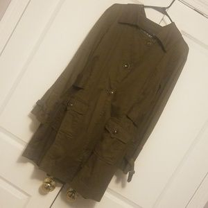Live a Little olive jacket 1x new